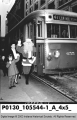Santa Getting onto an Indianapolis Railways Car