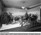 Santa Claus and His Sleigh at L.S. Ayres Department Store, 1945