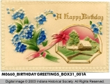 Birthday Card with a Bouquet of Forget-Me-Nots