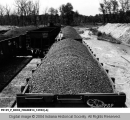 Railroad Freight Cars Loaded with Coal