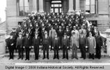 Terre Haute Police Department Spring Inspection, 1933 on the Steps of the Vigo County Courthouse