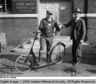 Two Men Outside of Terre Haute Brewing Company Office