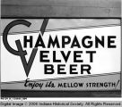 """Champagne Velvet Beer"" Sign"