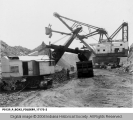 Steam Shovels Working at the Binkley Coal Mine