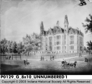 Sketch of Indiana State Normal School, circa 1890