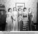 Young Girls in Evening Gowns