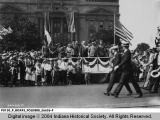 Rainbow Veterans Parade Before General Pershing and General Gourroud
