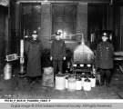 Policemen with Distillation Equipment