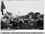 General John Joseph Pershing and General Henri Gouraud Riding in a Car