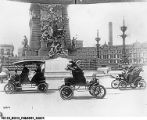 Early Automobiles on Monument Circle ca.1900