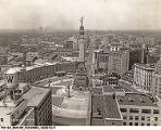 Aerial View of Monument Circle, 1944