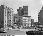 View of Northeast Quadrant of Monument Circle, 1954