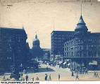 Busy Day on a Crowded West Market Street Looking West from the Monument, 1910