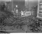 Armistice Celebration on Washington Street Heading for Monument Circle, Nov. 11, 1918