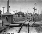 Interurban Passenger Platform and Station at Antioch, Indiana, 1909