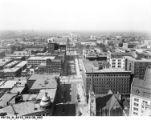 View from Top of Soldiers and Sailors Monument up Meridian Street