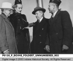 Governor Schricker, Carole Lombard, Will H. Hayes, and Sgt. Alex L. Arck