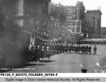 Welcome Home Day - World War I Troops March Along Meridian Street