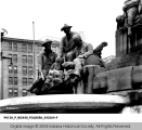 Statues of Soldiers on Soldiers' and Sailors' Monument