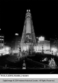 Monument Circle Decorated for Christmas