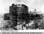 Soldiers' and Sailors' Monument Under Construction