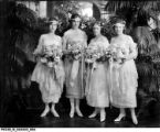 Bridesmaids at the Landon Sisters Wedding at Oldfields in June 1920