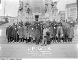 U.M.W.A. Colored Delegation on the Monument Steps, 1927
