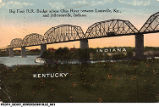 Big Four Rail Road Bridge across Ohio River between Louisville, Kentucky and Jeffersonville, Indiana