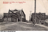 Washington Street Bridge Over Iriquois [Iroquois] River, Rensselaer, Indiana