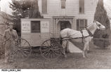 Rural Free Delivery Carrier with Wagon, Vernon, Indiana