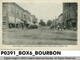 Main Street, Looking North from Matchette's Drug Store, Bourbon, Indiana