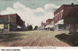 Looking north on Main Street, Cromwell, Indiana