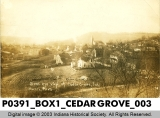 Bird's Eye View of Cedar Grove, Indiana