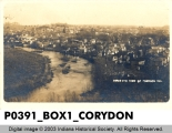 Bird's Eye View of Corydon, Indiana