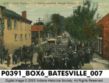 Tenth Regiment U. S. Infantry marching through Batesville, Indiana