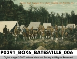 Tenth Regiment U. S. Infantry Camping near Batesville, Indiana