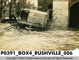 Flood scene, Rushville, Indiana, 1913