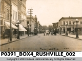 Main Street North from First, Rushville, Indiana