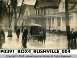 Flood scene in Rushville, Indiana, 1913