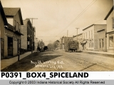 Main St. Looking West, Spiceland, Indiana 1909