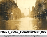 Flooded Street in Logansport, Indiana
