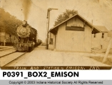 Train and Station, Emison, Indiana