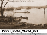 Flood Scene from Tilly's Hill, Vevay, Indiana