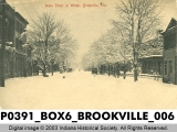 Main Street in Winter, Brookville, Indiana