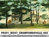 Maurice Thompson's Home, Crawfordsville, Indiana