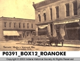 Corner of Main and Second Streets, Roanoke, Indiana
