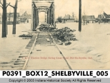 I. & C. Traction Bridge during the Great Flood of 1913 in Shelbyville, Indiana