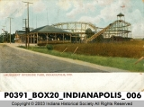 Roller Coaster at Riverside Park, Indianapolis, Indiana