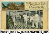 Children's Barber Shop and Playground, L. S. Strauss & Co., Indianapolis, Indiana