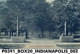 Entrance to Military Park, Indianapolis, Indiana